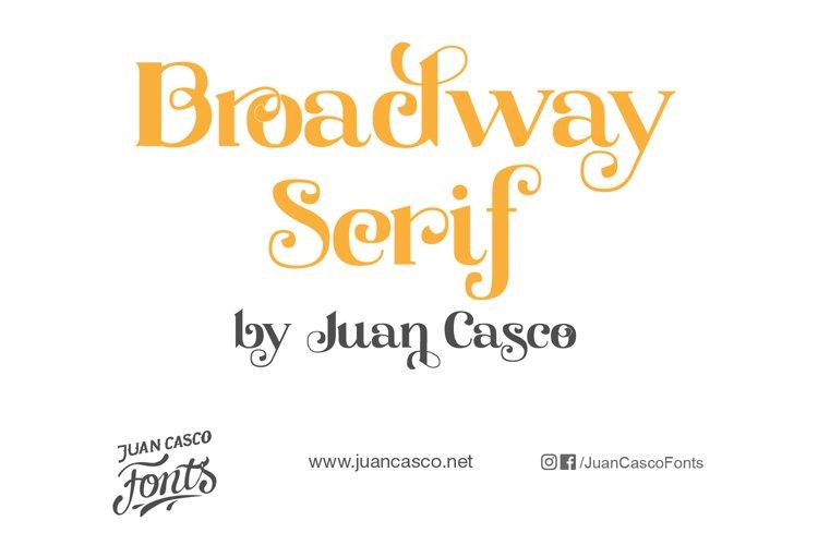 Broadway Serif example image 1