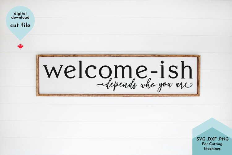 Funny Welcome Sign SVG example image 1