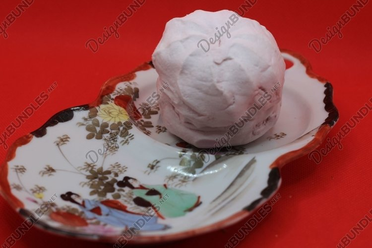 marshmallows on a vintage plate example image 1