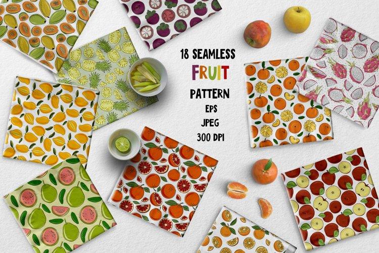 Seamles pattern fruit