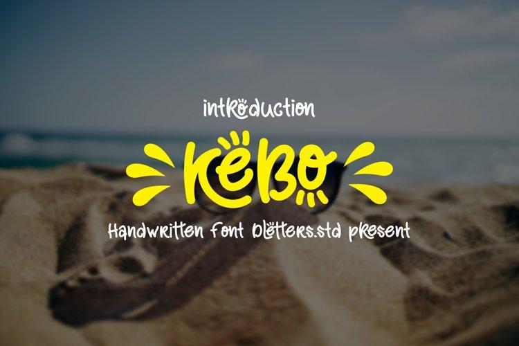 kebo - handwritten style