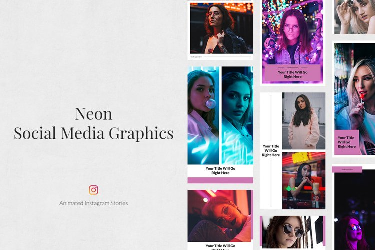 Neon Animated Instagram Stories example image 1