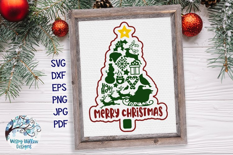 Merry Christmas Tree SVG | Christmas Tree SVG Cut File example image 1