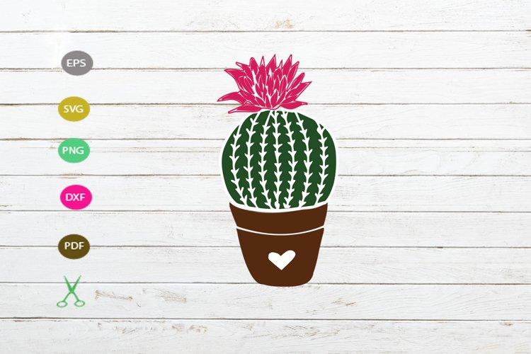 cactus svg cut file, cactus silhouette design,cactus clipart example image 1