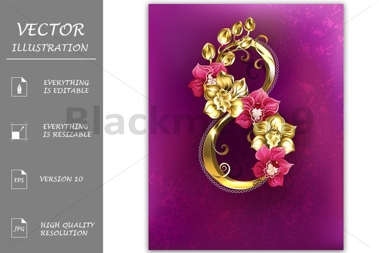 Eight of Gold Orchids example image 1