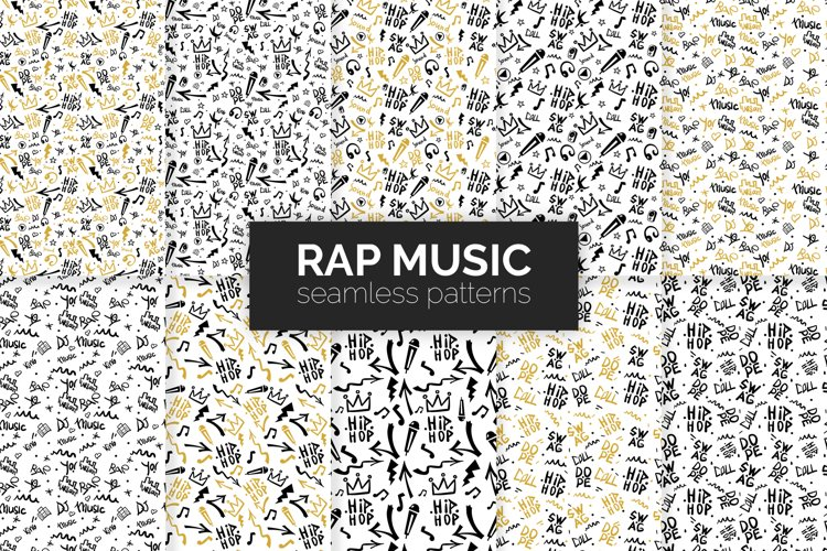 Rap Music Seamless Patterns example image 1