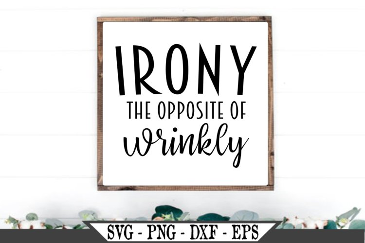 Irony The Opposite of Wrinkly SVG example image 1