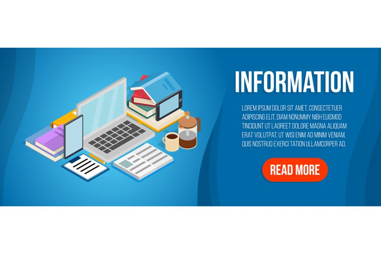 Information concept banner, isometric style example image 1