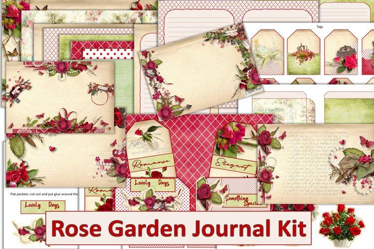 Red Roses Journal Kit with free ephemera