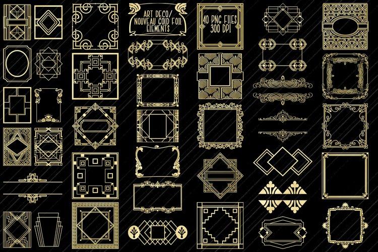 Art Deco/Nouveau Gold Foil Frames, Elements, Labels, Etc. example image 1