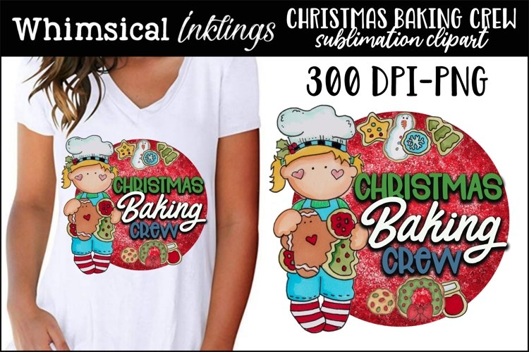 Christmas Baking Crew Sublimation Clipart example image 1