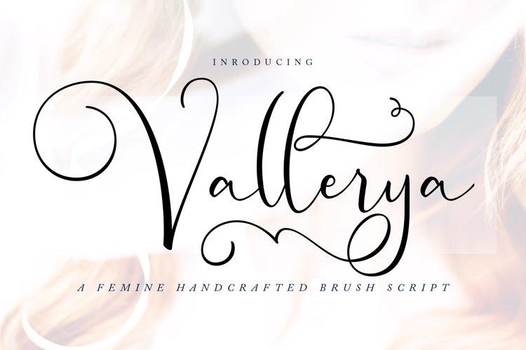 Vallerya | Handcrafted Brush Script Font example image 1