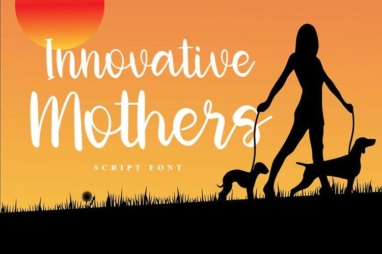 Innovative Mothers | Script Font