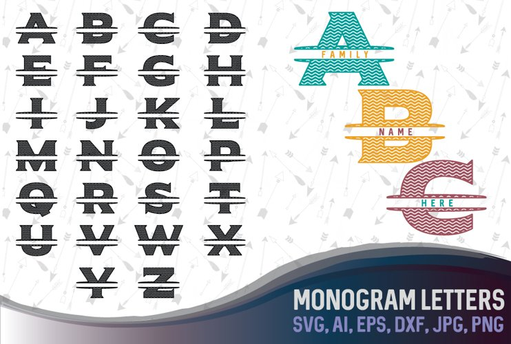 Letters for monograms Bundle SVG, DXF, JPG, PNG, DWG, AI, EPS