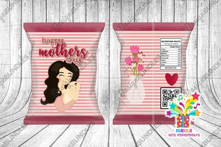 Mother's Day Chip Bag #19 happy mothers day chip bag example image 1