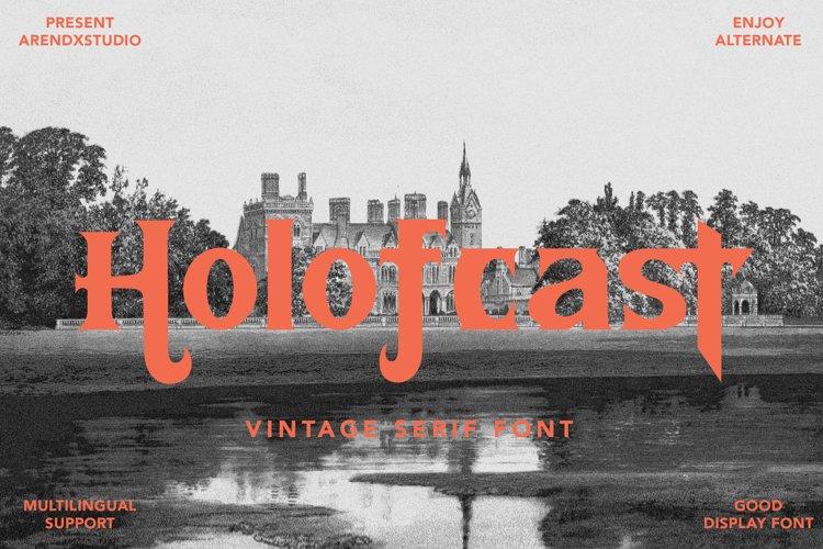 Holofcast - Vintage Serif Font example image 1