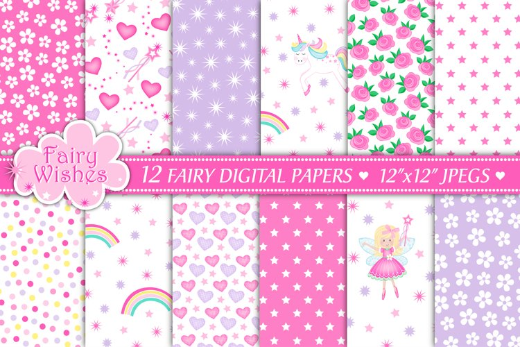 Fairy digital papers, Unicorn digital papers, Fairy patterns - Free Design of The Week Font
