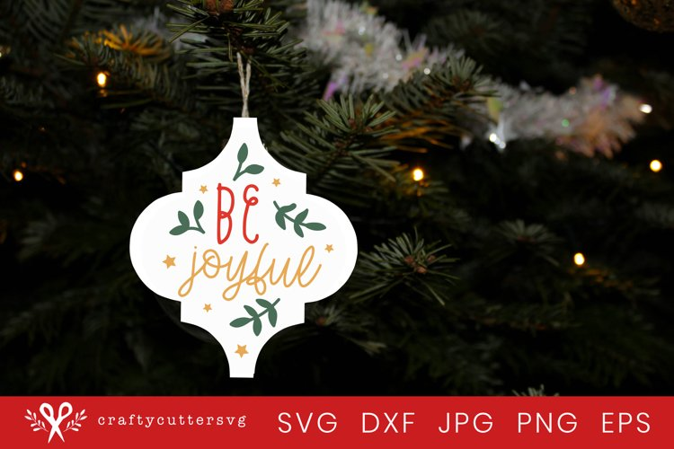 Christmas Ornament Arabesque Tile Svg | Be Joyful svg example image 1
