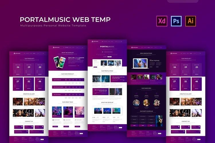 Portalmusic | Web Template example image 1