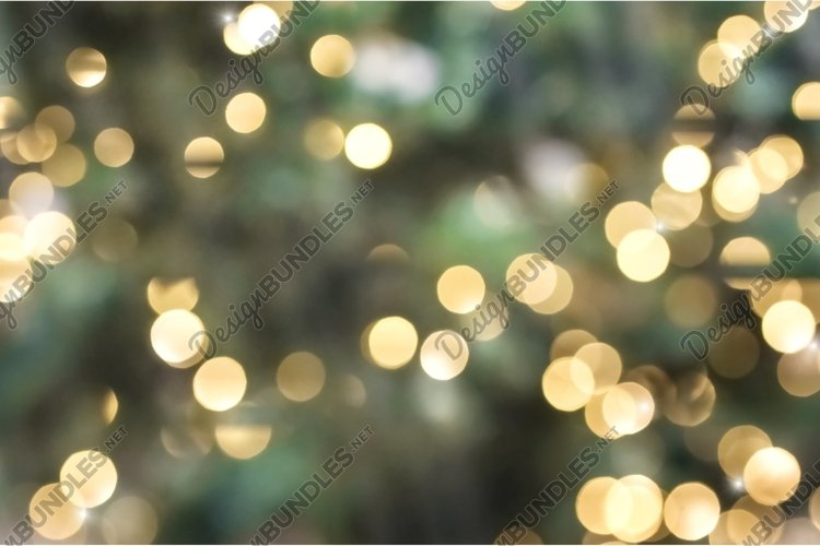 Abstract Glittering - Green Glitter With Golden Christmas Li example image 1