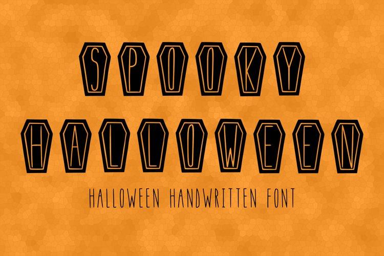 Spooky Halloween handwritten font in ttf, otf example image 1