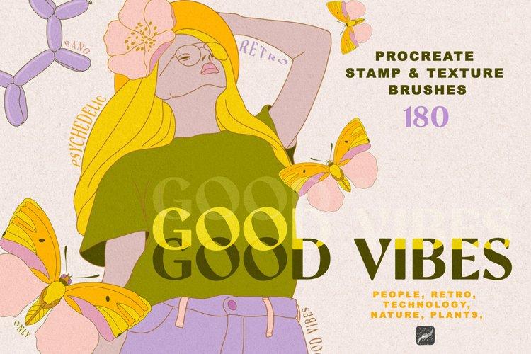 Good Vibes Procreate Stamp