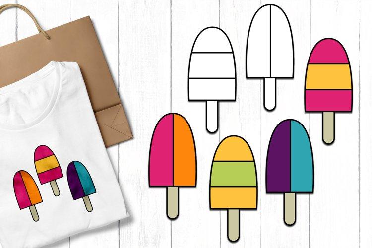 Summer Ice Cream Clip Art Illustrations example image 1