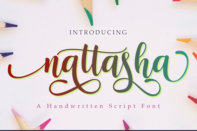 Nattasha   A Calligraphy Font example image 1