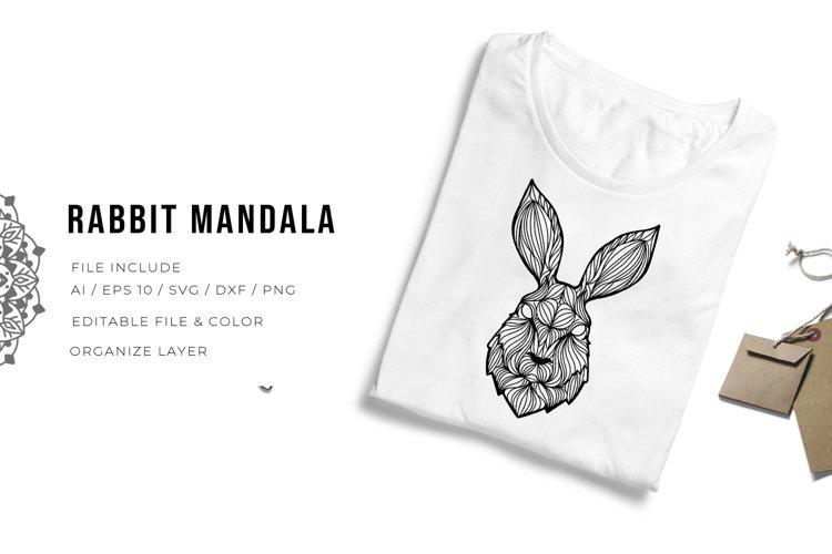 Rabbit Mandala | SVG example image 1