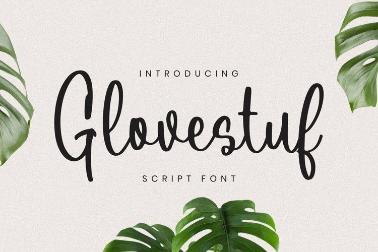 Web Font Glovestuf Font example image 1