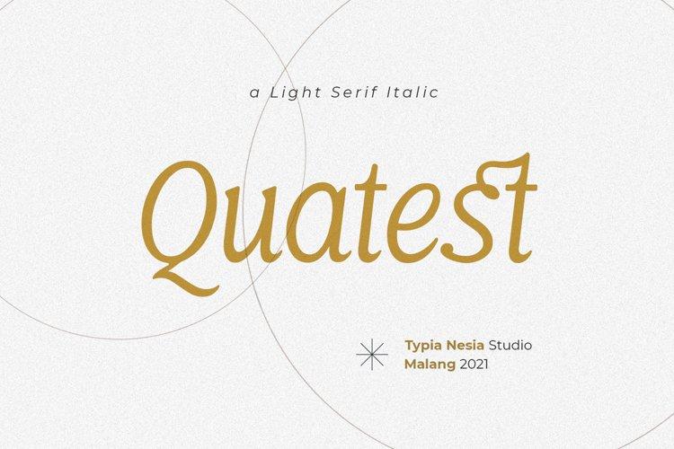 Quatest Italic example image 1