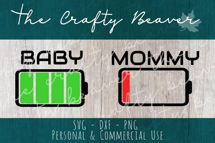 Mom and Baby Battery Cut File