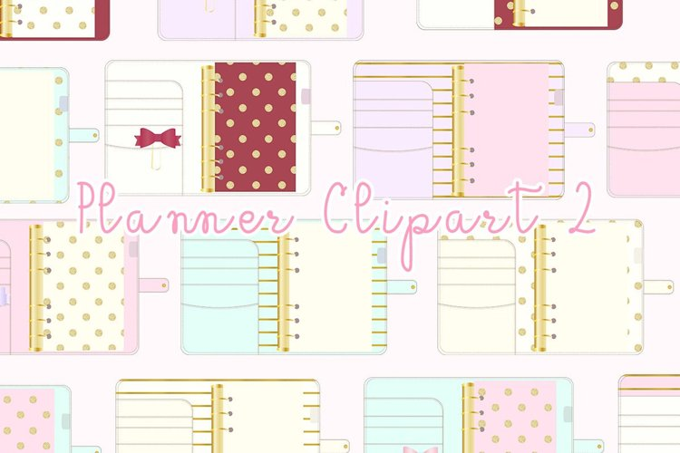 Planner Binder Clipart 2 example image 1