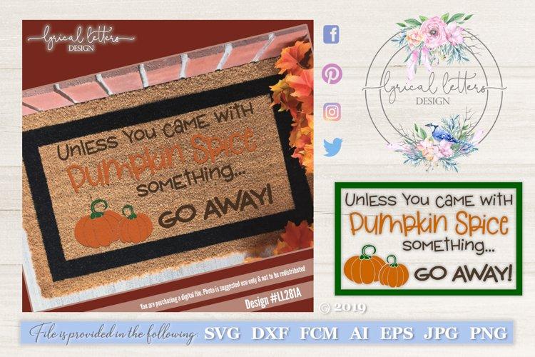 Pumpkin Spice Fall Door Mat SVG LL281A