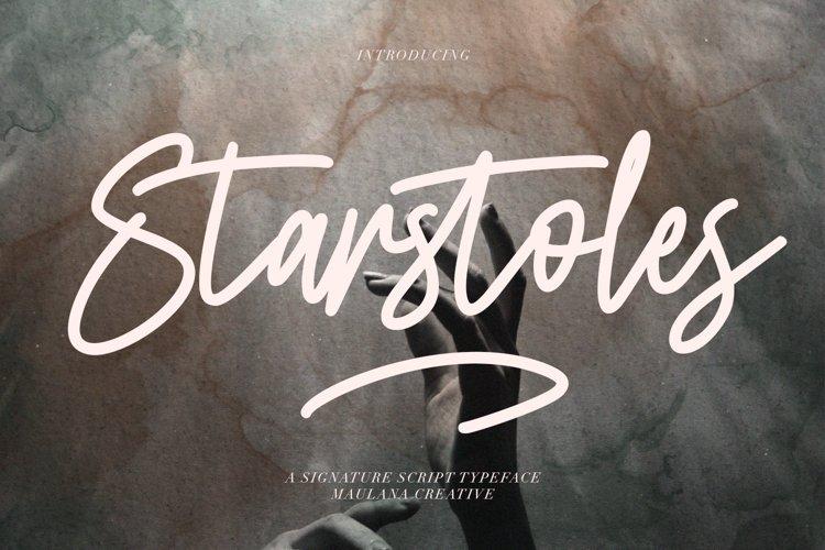 Starstoles Signature Script Typeface example image 1