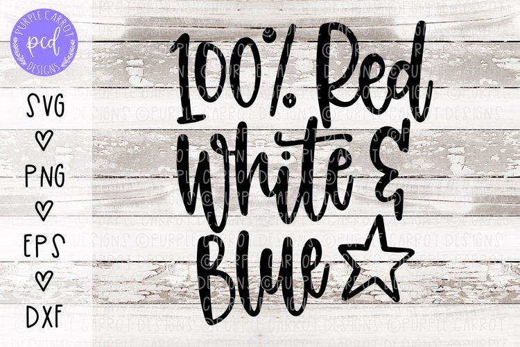 Red White and Blue Hand Lettered Cut File