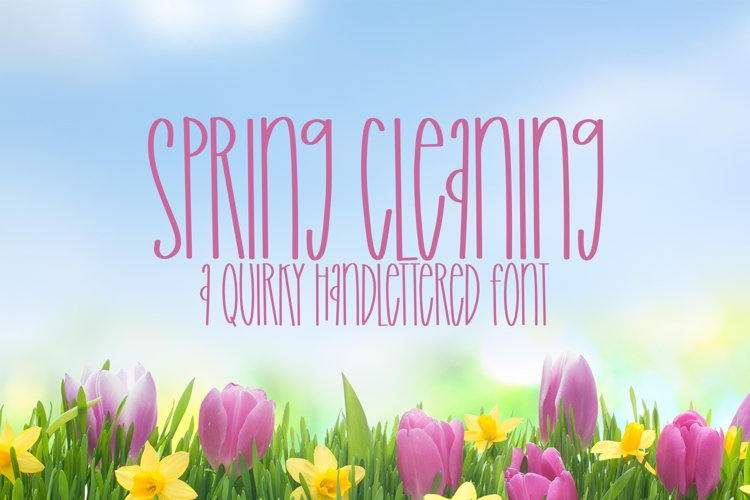 Spring Cleaning - A Quirky Handlettered Font example image 1