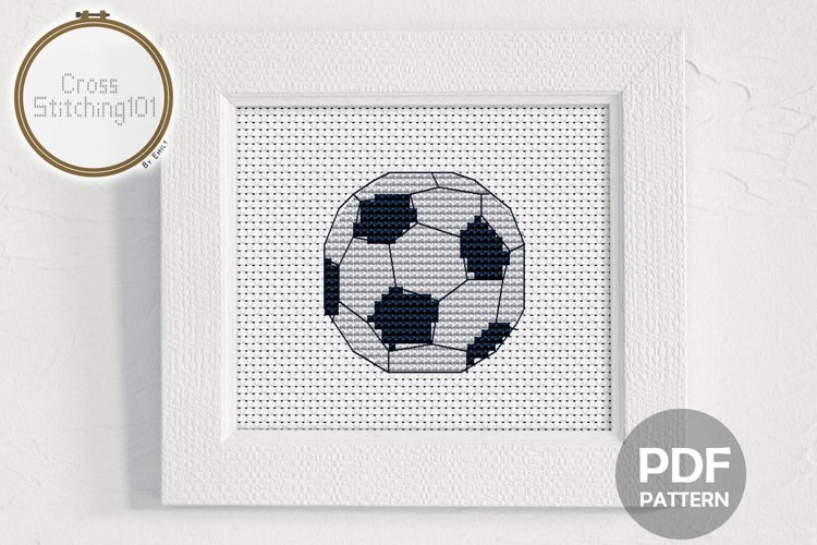 Football Cross Stitch Pattern - Instant Download PDF example image 1