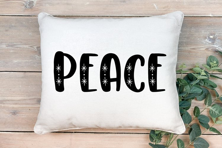 Peace Cut file - SVG & PNG example image 1