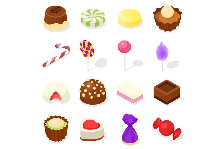 Candy icon set, isometric style example image 1