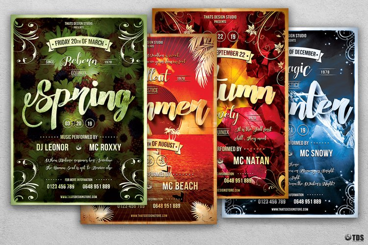 Four Seasons Flyer Bundle