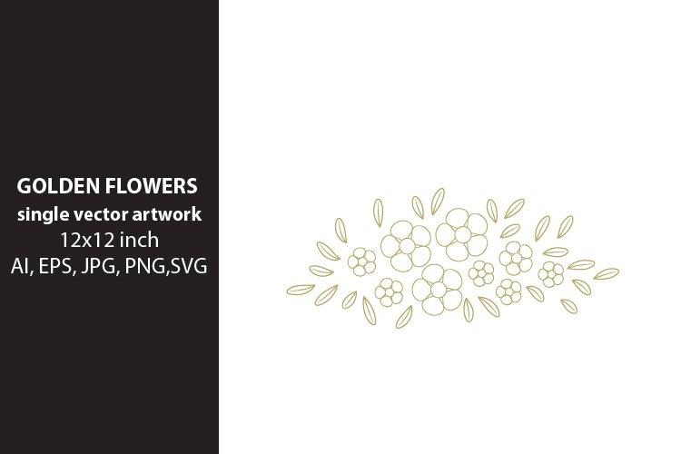 golden flowers - VECTOR ARTWORK example image 1