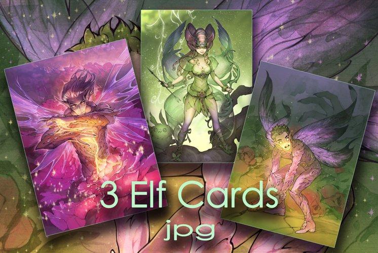 3 Elf Cards