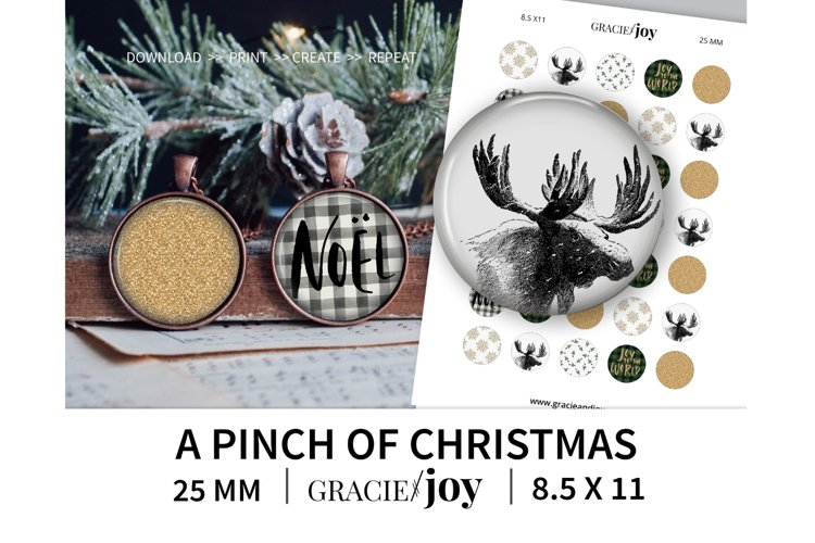 A pinch of Christmas 25 MM digital collage sheet example image 1