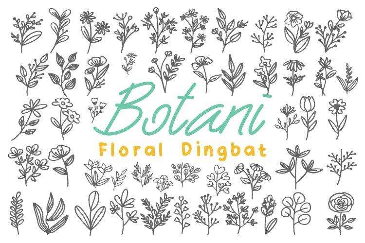 Botani - Floral Dingbats example image 1