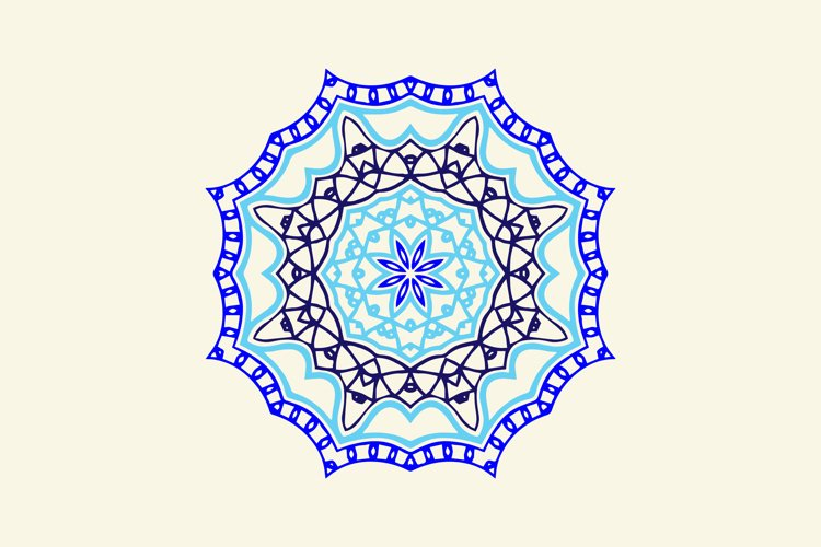 Ornament Abstract Blue Navy Color example image 1