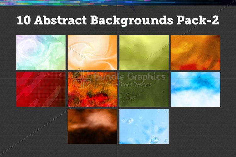 10 Abstract Backgrounds – Pack-2 example image 1