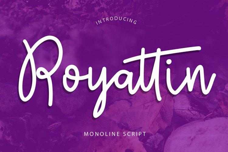 Royattin Modern Calligraphy Monoline example image 1
