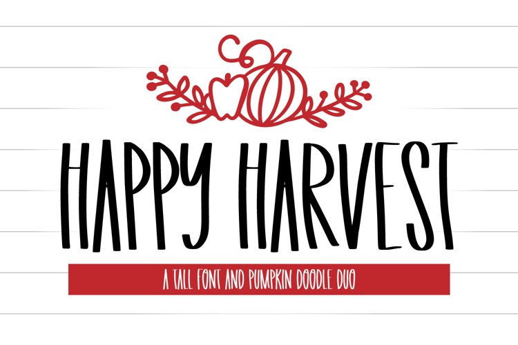 Happy Harvest - A Tall Font And Fall Doodle Duo example image 1