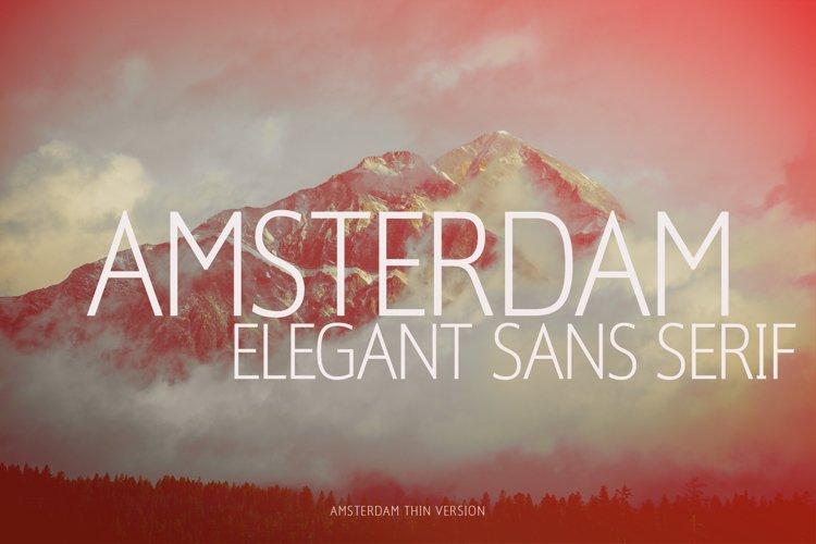 Amsterdam Thin Versionl Elegant font sans serif example image 1